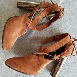 Free People Women: Nouvella Wrap Brown Heel Sz 8.5